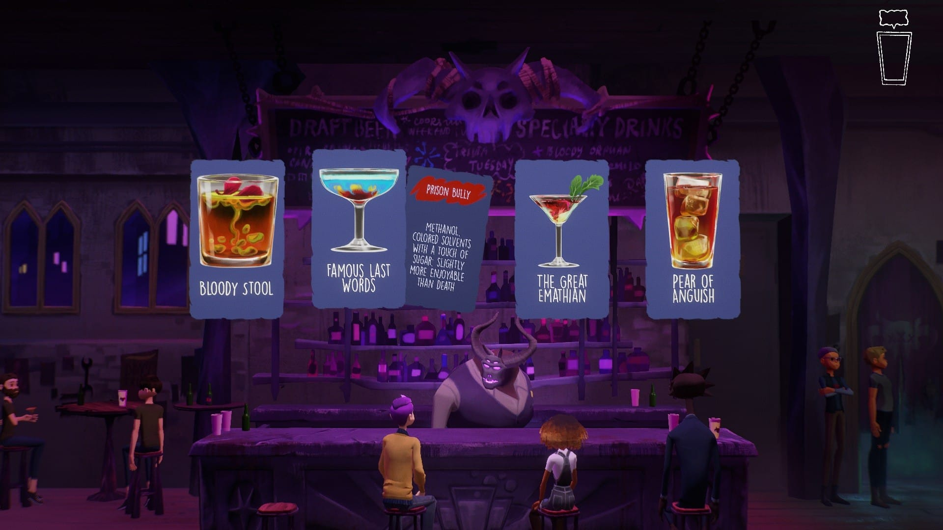 Afterparty Drink Menu