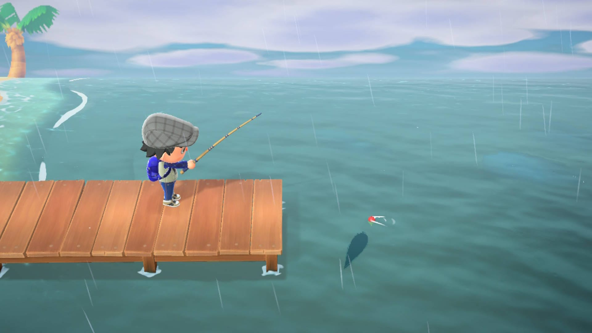 Animal Crossing NH Fishing Rain