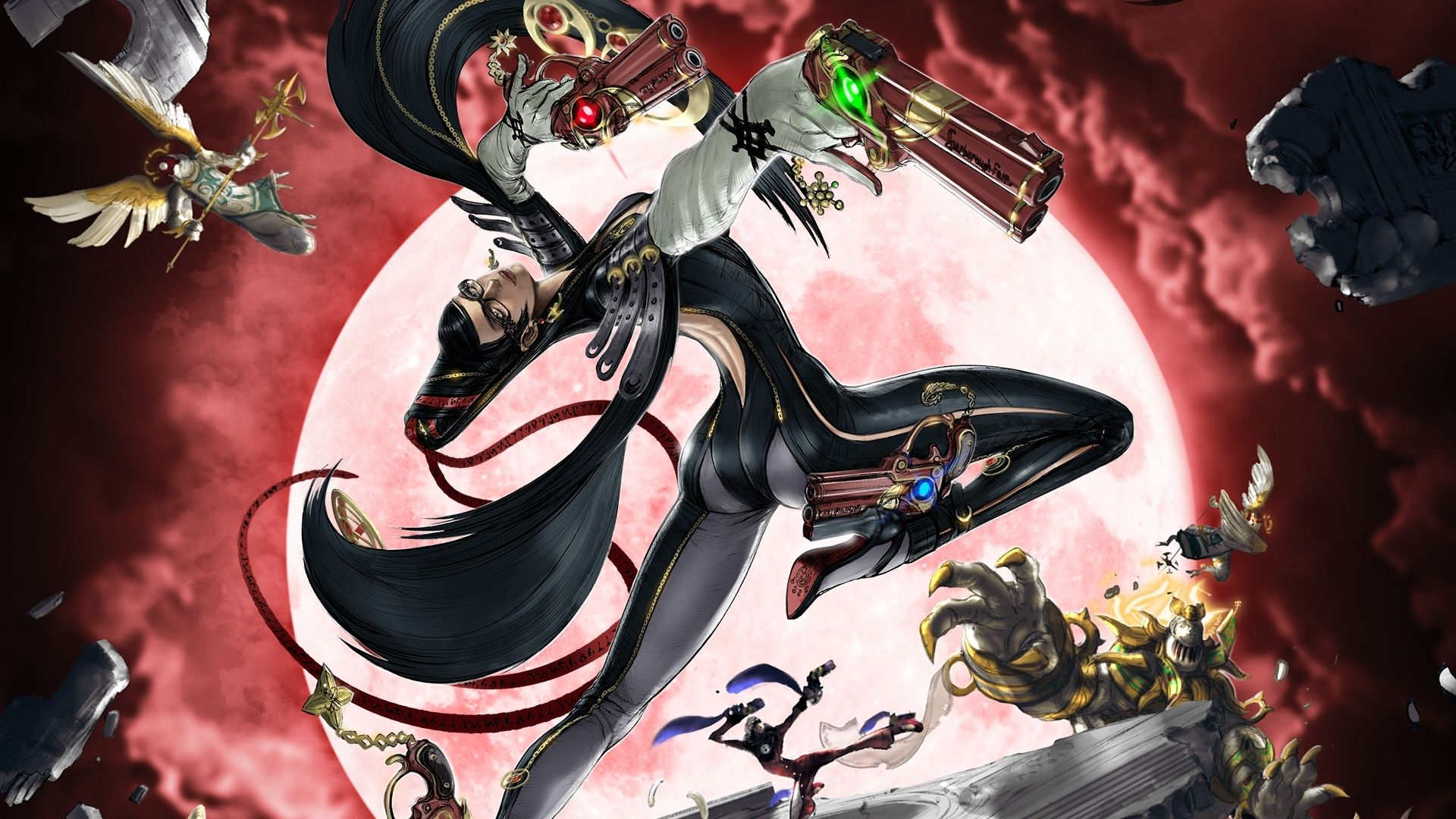 Bayonetta, as she appears in the first game in the series