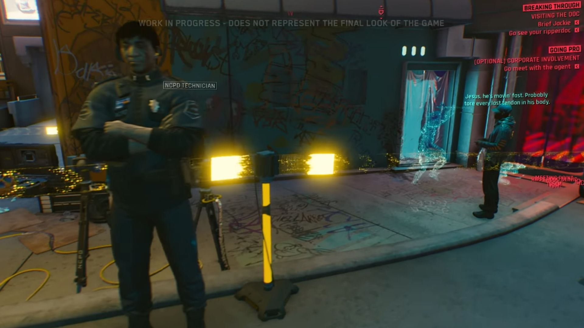 The police in the Cyberpunk demo, not attacking V on sight, seemingly with improved A.I.