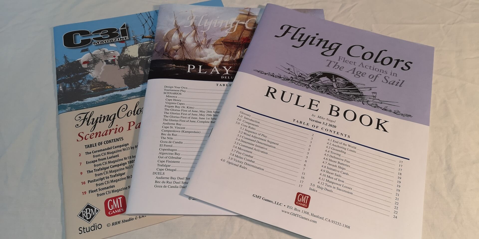 Flying Colors Deluxe 3rd Printing Rulebooks.
