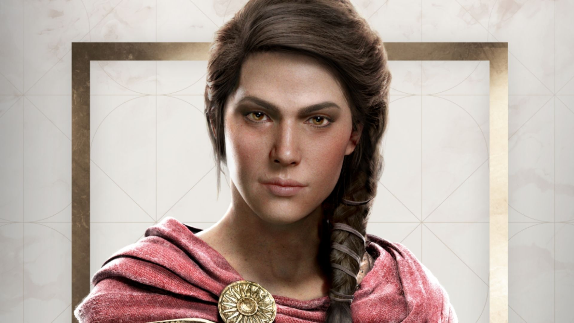 Kassandra, the female protagonist of Assassin's Creed Odyssey