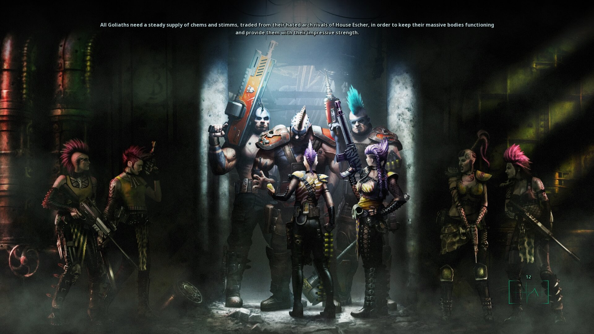 Necromunda: Underhive Wars Loading Screen Art.