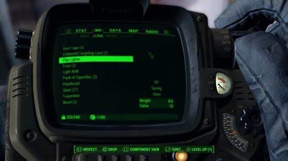 Fallout 4 Flip Lighter Resources