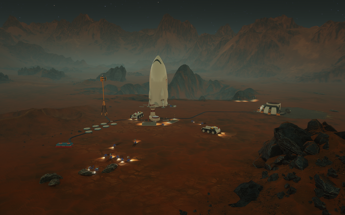 surviving mars rocket