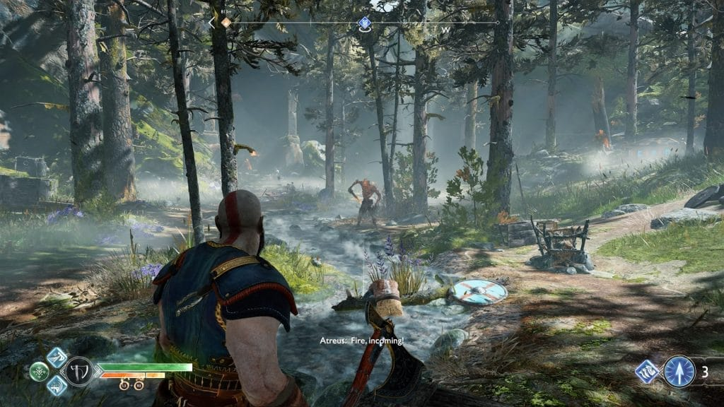 god of war review enviroment