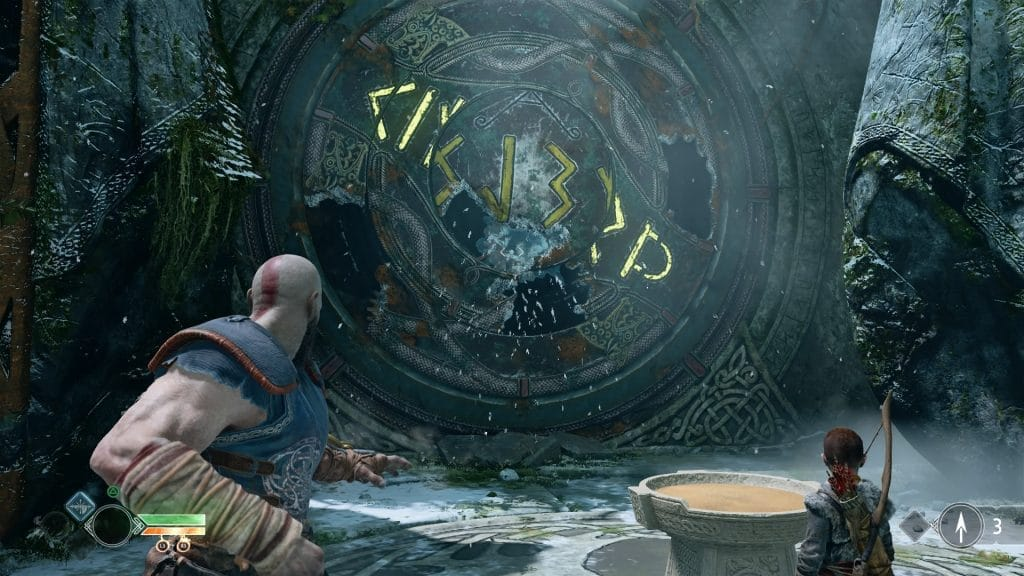 god of war review puzzle