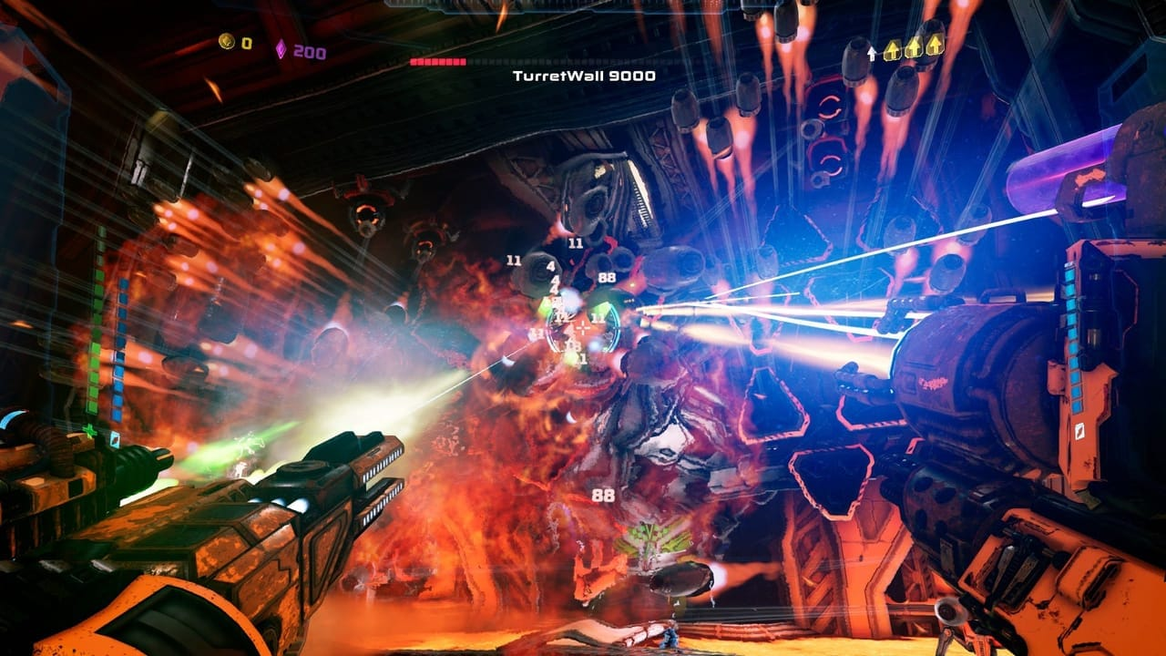 mothergunship boss fight gameplay