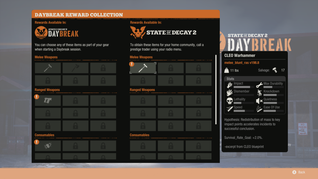 state of decay 2 unlockables