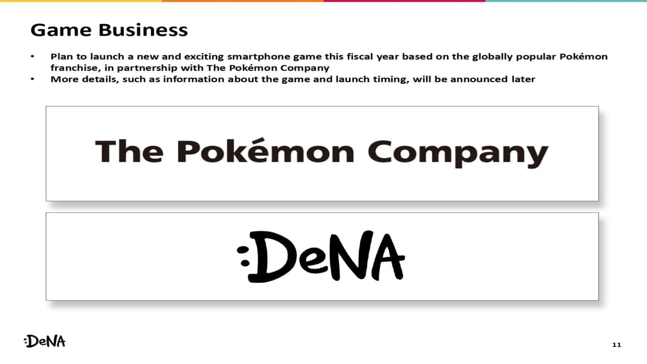 The Pokemon Company Partners With DeNA To Develop New Mobile Game DeNA Slide