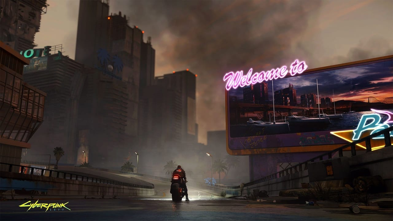 cyberpunk 2077 pacifica district night city