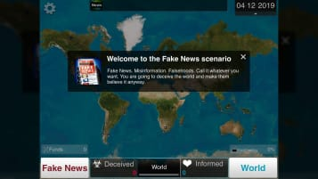 Plague Inc. Fake News scenario