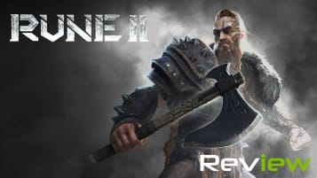 Rune II title - Viking Warrior amidst a cloudy backdrop