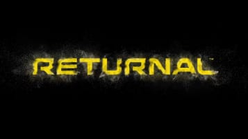 The game's title in yellow text, the lettering crumbling away